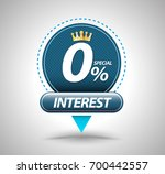special offer 0  interest... | Shutterstock .eps vector #700442557