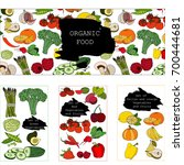 vector hand drawn vegetables... | Shutterstock .eps vector #700444681
