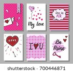 set of hand drawn doodle style... | Shutterstock .eps vector #700446871