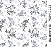 vector dark grey white tropical ... | Shutterstock .eps vector #700447225