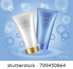 beauty care products package on ... | Shutterstock .eps vector #700450864