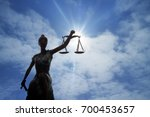 Silhouette Of Lady Of Justice...