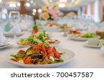 served for wedding banquet... | Shutterstock . vector #700457587