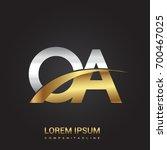 initial letter oa logotype... | Shutterstock .eps vector #700467025
