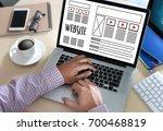 web design layout sketch... | Shutterstock . vector #700468819