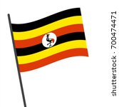 flag of uganda   uganda flag... | Shutterstock .eps vector #700474471