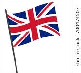 flag of united kingdom   united ... | Shutterstock .eps vector #700474507
