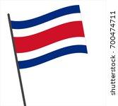 flag of costa rica   costa rica ... | Shutterstock .eps vector #700474711
