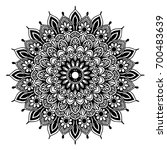 mandalas for coloring book.... | Shutterstock .eps vector #700483639