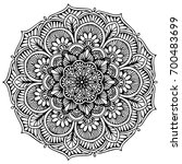 mandalas for coloring book.... | Shutterstock .eps vector #700483699