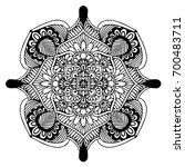 mandalas for coloring book.... | Shutterstock .eps vector #700483711