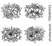 flower set | Shutterstock .eps vector #700484521