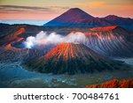 mount bromo  is an active... | Shutterstock . vector #700484761