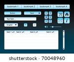 blue web template   elements  ...