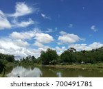 scenery on the farm. | Shutterstock . vector #700491781