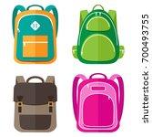 vector set of kids school bags | Shutterstock .eps vector #700493755
