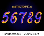neon 3d typeset with rounded... | Shutterstock .eps vector #700496575