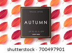 autumn sale background layout... | Shutterstock .eps vector #700497901