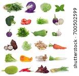 vegetable isolated on white... | Shutterstock . vector #700502599