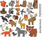 forest animals elements set ... | Shutterstock .eps vector #700503559