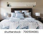 master bedroom with... | Shutterstock . vector #700504081