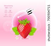 strawberry red serum extract...   Shutterstock .eps vector #700504711