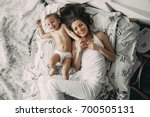 beautiful family photo happy... | Shutterstock . vector #700505131