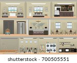 hotel interior set with... | Shutterstock .eps vector #700505551