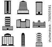 building icons set. vector... | Shutterstock .eps vector #700505581