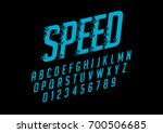vector of stylized speedy font... | Shutterstock .eps vector #700506685