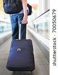 traveler with a bag on the... | Shutterstock . vector #70050679