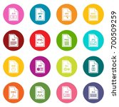 file format icons many colors... | Shutterstock .eps vector #700509259