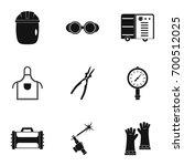 welder construction icon set.... | Shutterstock .eps vector #700512025