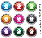 magic ball set icon isolated on ... | Shutterstock .eps vector #700512091