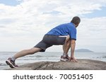 Runner Doing Stretching...