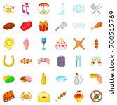 banquet icons set. cartoon... | Shutterstock .eps vector #700515769