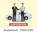 auto business  car sale  deal   ... | Shutterstock .eps vector #700515781