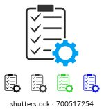 smart contract gear flat vector ... | Shutterstock .eps vector #700517254