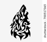 wolf head tattoo design isolated | Shutterstock .eps vector #700517365