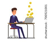concept of cryptocurrency.... | Shutterstock .eps vector #700521001