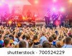 musical concert rock band in... | Shutterstock . vector #700524229