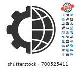 global options gray pictograph... | Shutterstock .eps vector #700525411