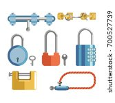 solid locks and latches... | Shutterstock .eps vector #700527739