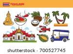 thailand travel destination... | Shutterstock .eps vector #700527745