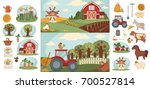 farm household or farmer... | Shutterstock .eps vector #700527814