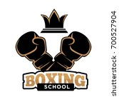 boxing school club vector icon... | Shutterstock .eps vector #700527904