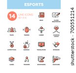 esports   set of vector icons ... | Shutterstock .eps vector #700551214