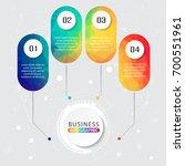 timeline infographics design... | Shutterstock .eps vector #700551961