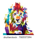 Stock vector full color lion 700557394