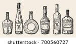 vector set of bottles of... | Shutterstock .eps vector #700560727